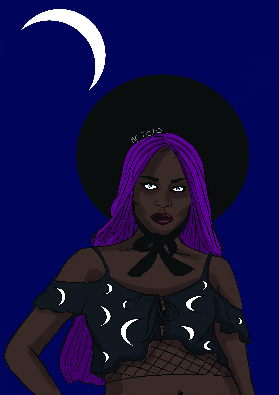 Black Modern Goth Girl